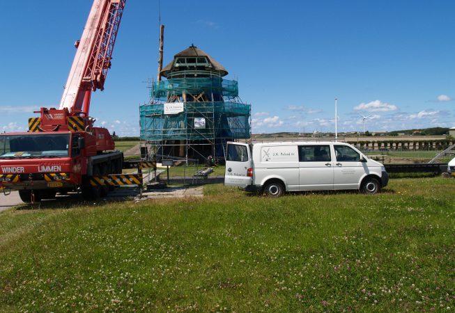 foto van de molen de Noorder M in restauratie